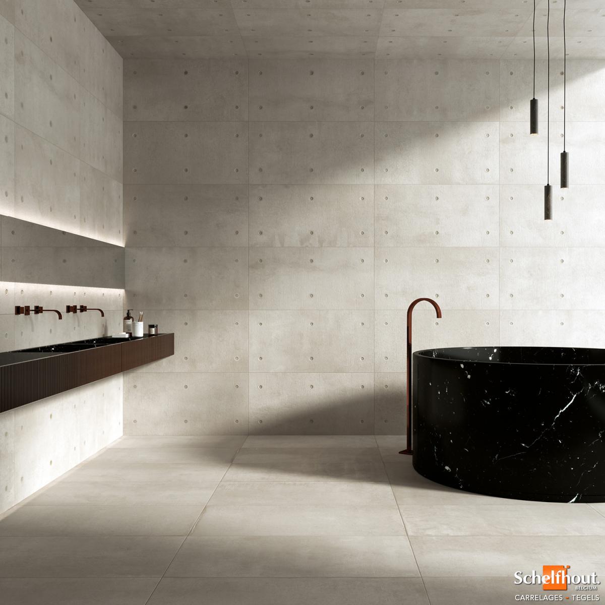 Carrelage Effet Beton Cuisine schelfhout - carrelages sol et mur intérieur – effet béton
