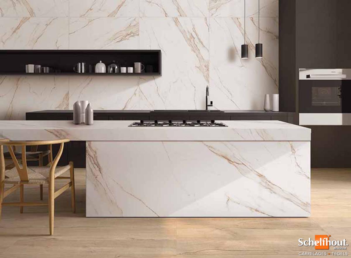 Carrelage Imitation Bois Brillant schelfhout - carrelages sol et mur intérieur – effet marbre