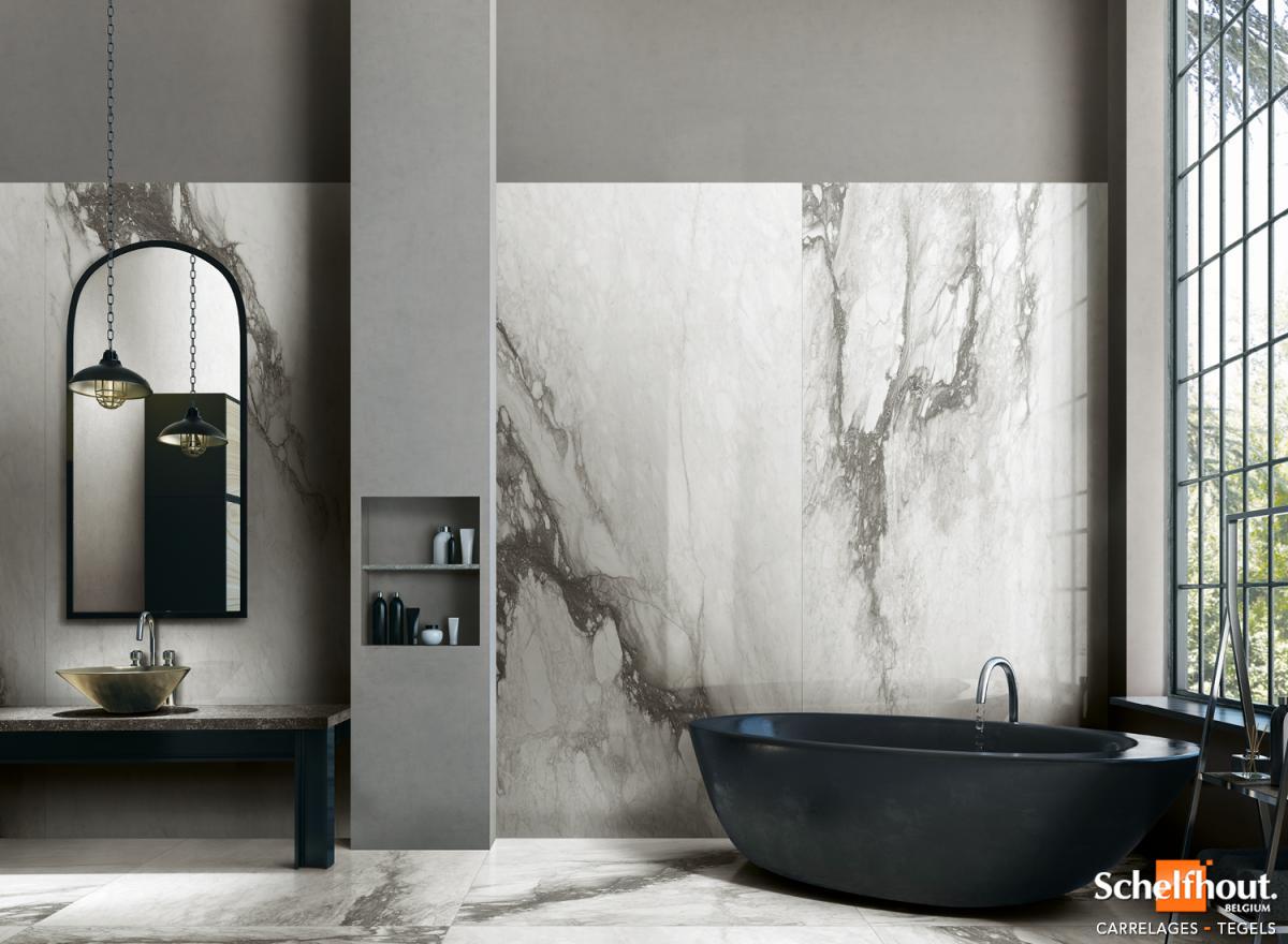 Carrelage Salle De Bain Noir Brillant schelfhout - carrelages sol et mur intérieur – effet marbre