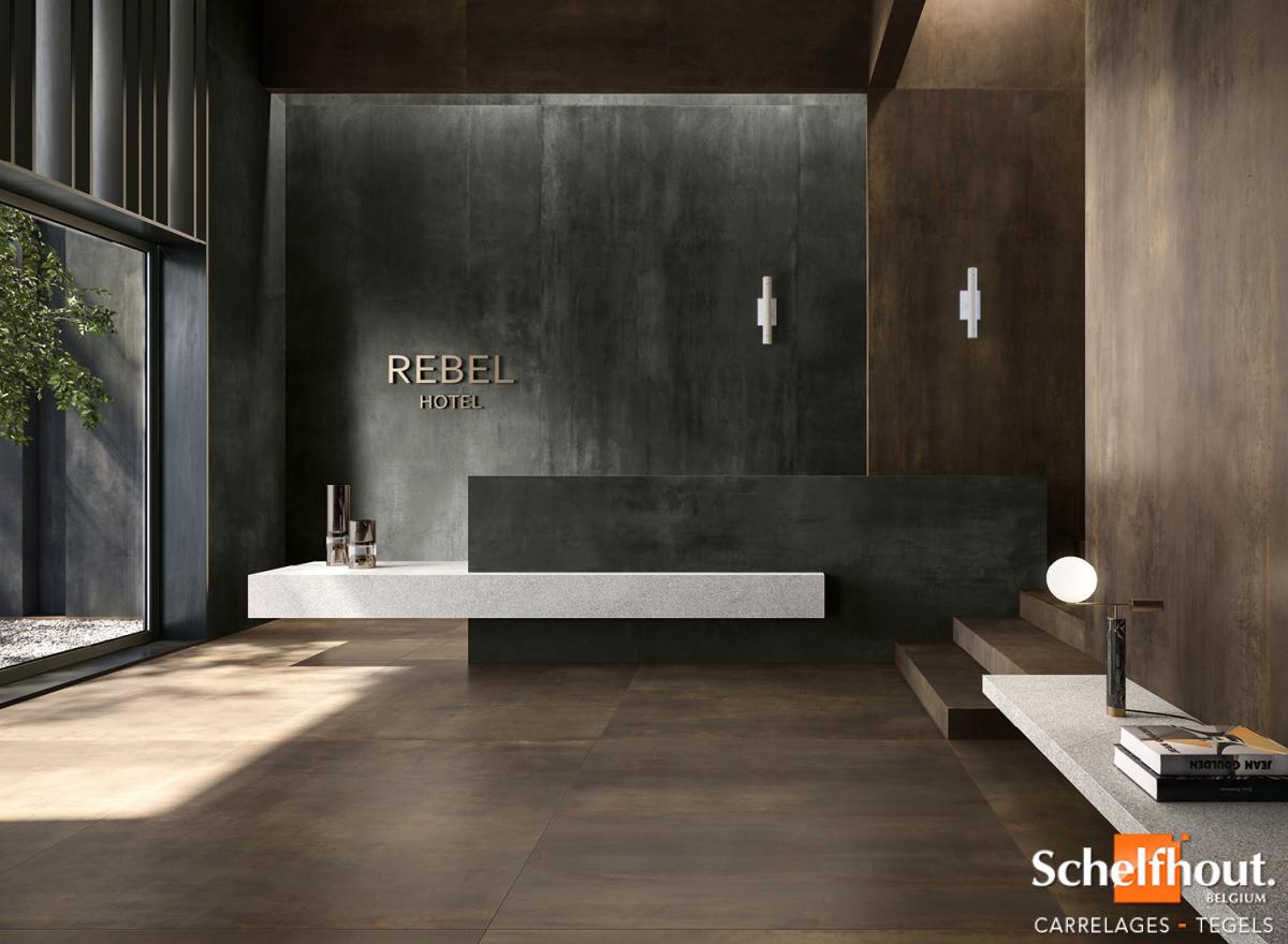 Schelfhout Carrelages Effet Metal Look Industriel Chic Garanti